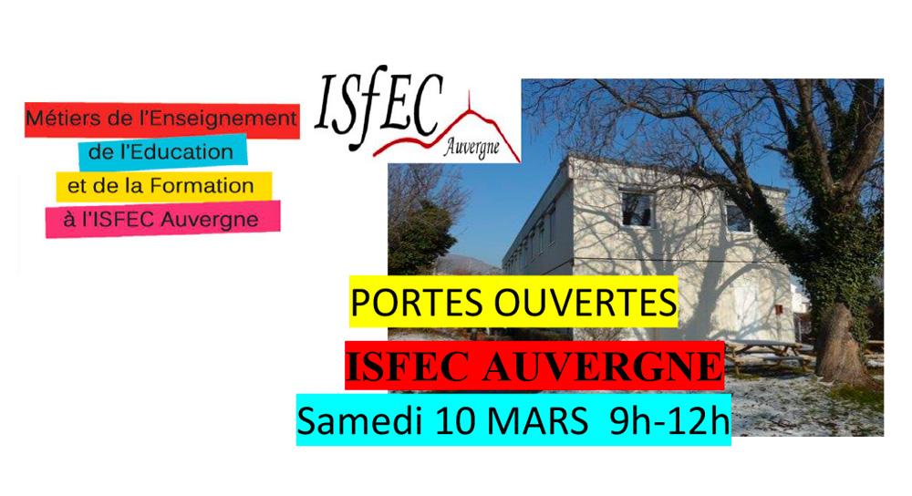 L'ISFEC ouvre ses portes !