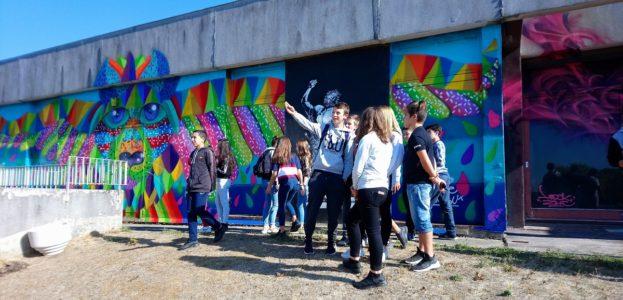 A Gannat, les élèves s'essayent au Graff