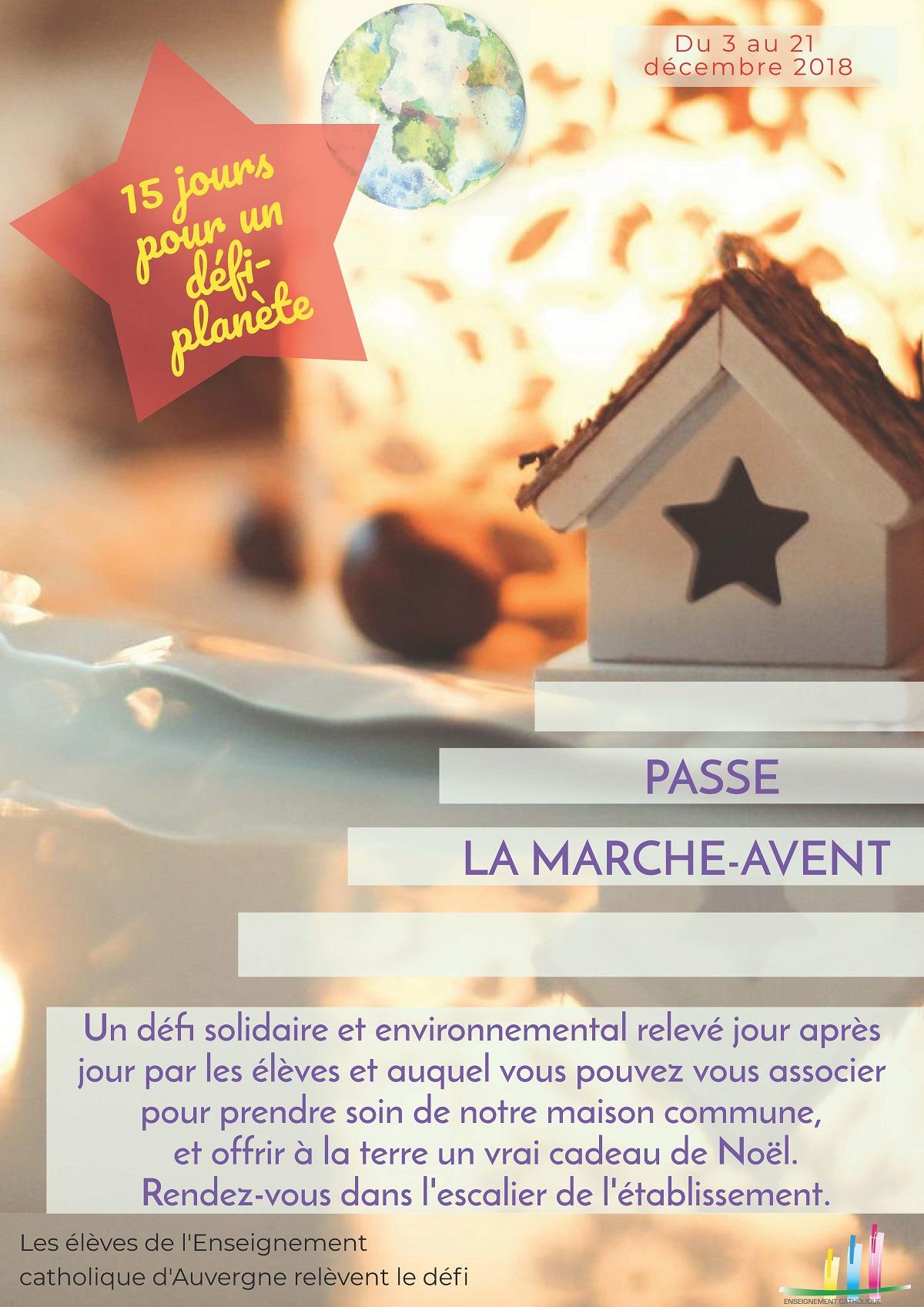 #PasseLaMarche-Avent et prenons soin de notre maison commune !