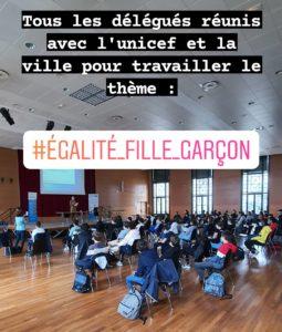 Égalité fille garçon : le travail des délégués du collège Saint Dominique de Vichy
