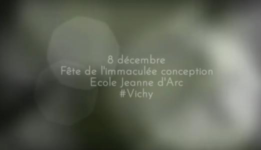 8 décembre à l'école Jeanne d'Arc de Vichy