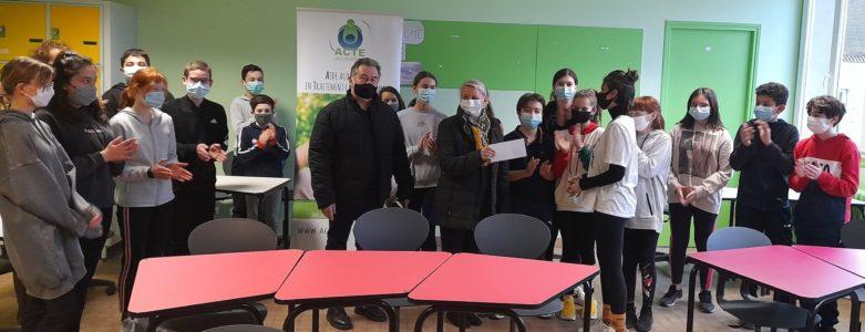 Les 5e1 du collège Sainte Procule aident les enfants malades
