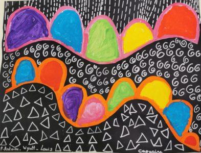 Création artistique collective en classe de MS-GSà l'école Sainte Procule